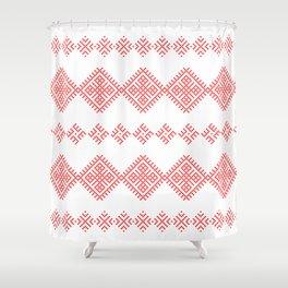 Pattern - Family Unit - Slavic symbol Shower Curtain