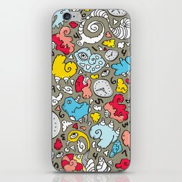 PLAYTIME_A GREY BACKGROUND iPhone Skin