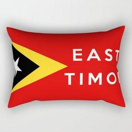 flag of east timor Rectangular Pillow