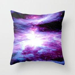 Orion Nebula Purple Periwinkle Blue Galaxy Throw Pillow