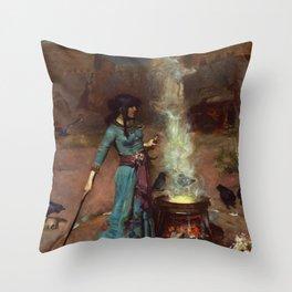 The Magic Circle John William Waterhouse Painting Throw Pillow
