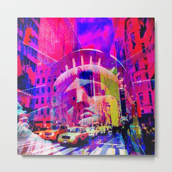 Liberty in New-York Metal Print
