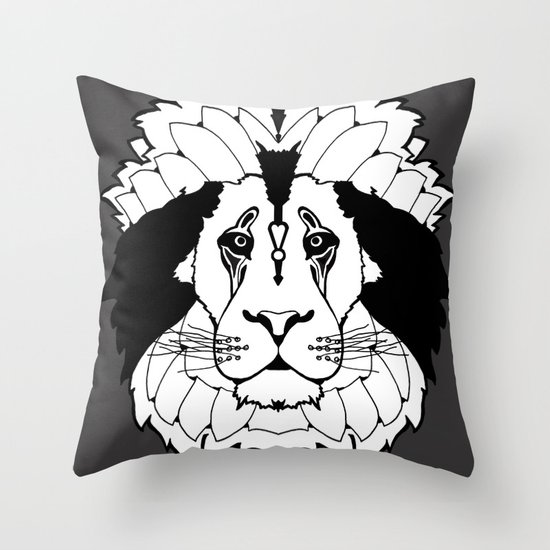 Mane Attraction (Stealth) Throw Pillow