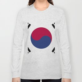 South Korea flag emblem Long Sleeve T-shirt