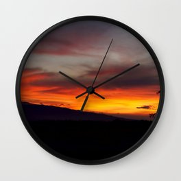 Sunset over Hualalai Wall Clock