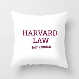 Harvard Law Throw Pillow