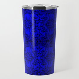 Kaleidoscope - Elephants - More Blue - Stamp Detail Travel Mug