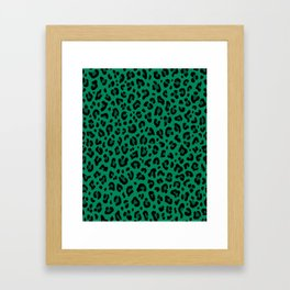 LEOPARD PRINT in GREEN | Collection : Leopard spots – Punk Rock Animal Print Framed Art Print