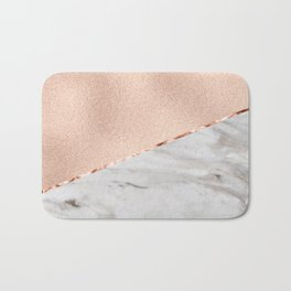 St Tropez rose gold marble Bath Mat