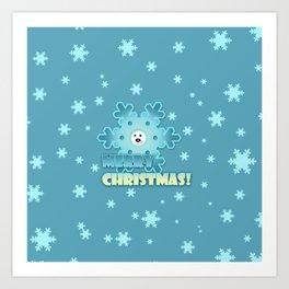 Fun snowflake Art Print