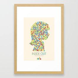Inside Out minimal poster Framed Art Print