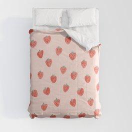 Strawberries on Pink Comforters