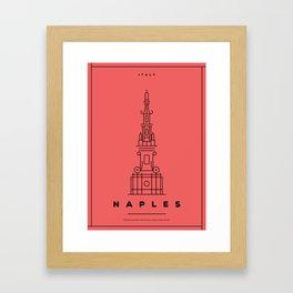 Minimal Naples City Poster Framed Art Print