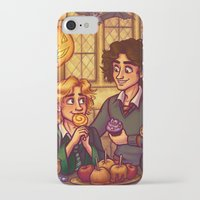 grantaire iPhone & iPod Cases featuring Hogwarts Halloween - Enjolras and Grantaire by juanjoltaire