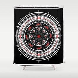Bear Spirit (Black) Shower Curtain
