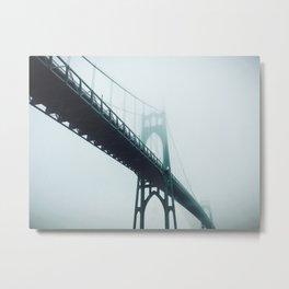 St. John's Bridge, Portland OR Metal Print