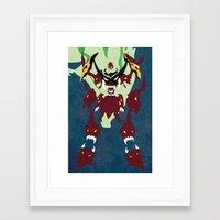 gurren lagann Framed Art Prints featuring TENGEN TOPPA GURREN LAGANN by JHTY
