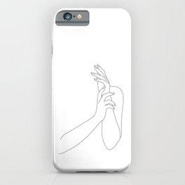 Simple hands illustration - Sukie iPhone Case