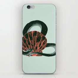 Snake and seashell iPhone Skin