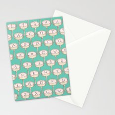 Infinite Typewriter_Green and Pink Stationery Cards