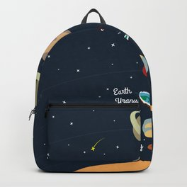 Flat Earth Solar System Backpack