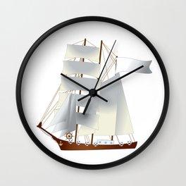 Ship, steamer, steamship, boat Wall Clock