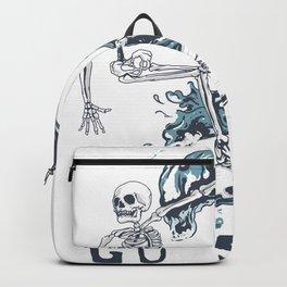 Surfing skull Backpack