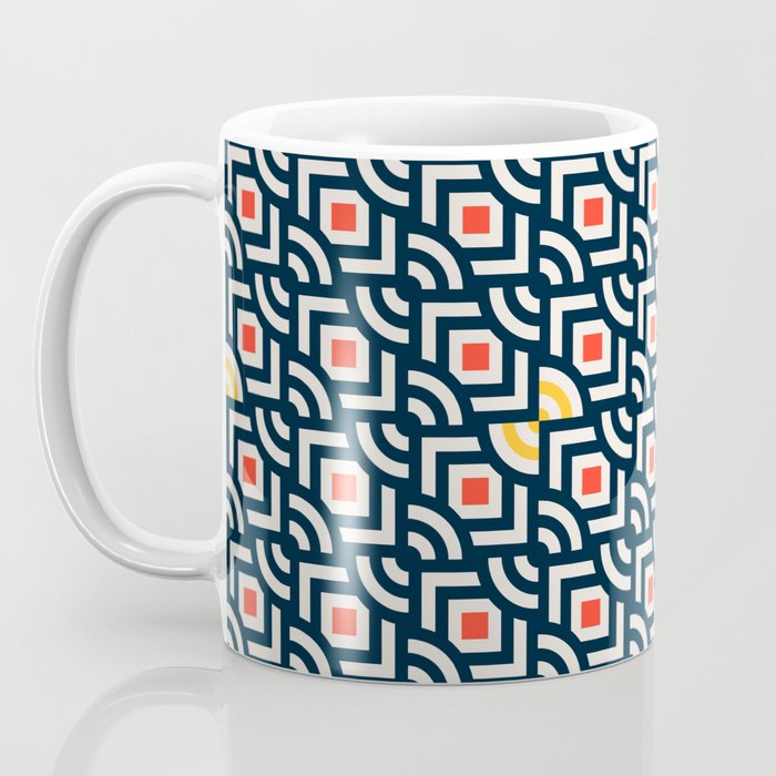 Round Pegs Square Pegs Navy Blue Coffee Mug