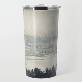 antiqued view from the Astoria Column Youngs Bay Travel Mug