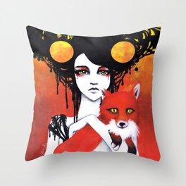 Fauna Goddess of Animals Throw Pillow
