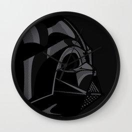 Pop Art Vader black Wall Clock