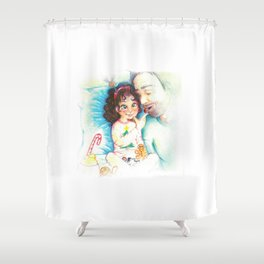 Xmas breakfast Shower Curtain