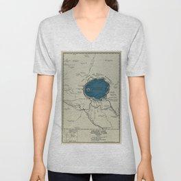 Vintage Crater Lake National Park Map (1919) Unisex V-Neck