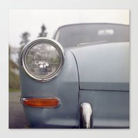 volkswagen Canvas Prints featuring volkswagen by auntie loren