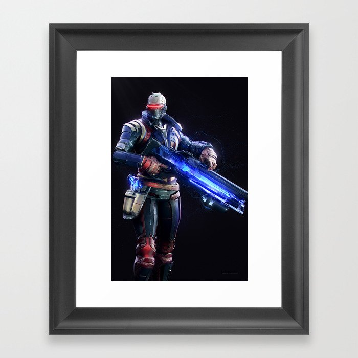 Soldier 76 v1 Framed Art Print
