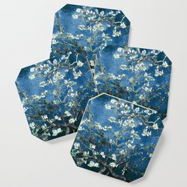 Van Gogh Almond Blossoms : Ocean Blue Coaster