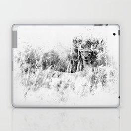 Whitetail Deer (Black and White) Laptop & iPad Skin