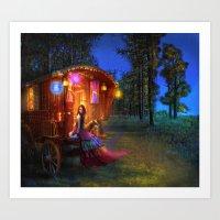 wanderlust Art Prints featuring Wanderlust by Aimee Stewart