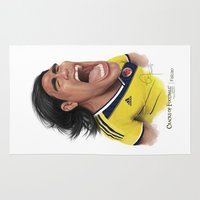 colombia Area & Throw Rugs featuring Falcao - Colombia by Sant Toscanni
