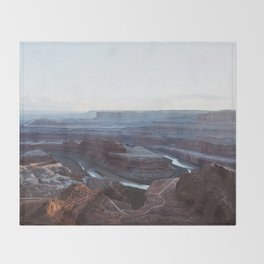 Sunset at Deadhorse Point State Park Throw Blanket