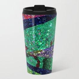 Holiday Mermaid Peacock Travel Mug