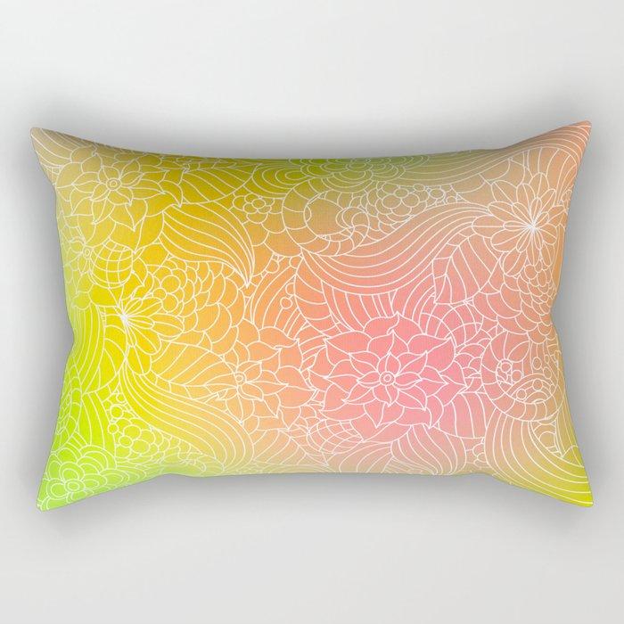 Romantic floral fantasy Rectangular Pillow