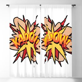 Comic Book Pop Art KA-POW Blackout Curtain