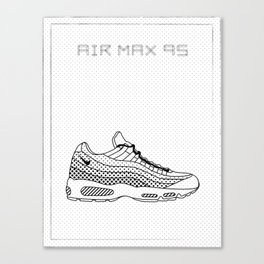 AIR MAX 95 sneaker illustration Canvas Print