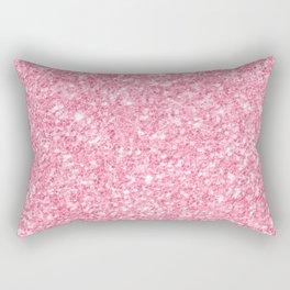Pink Glitter Texture print Rectangular Pillow