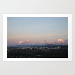 Spokane at Sunset Art Print