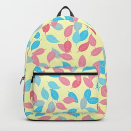 Genderflux Pride Scattered Leaves Pattern Backpack