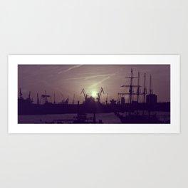 Hamburg Harbor - Small Art Print