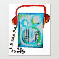 radiohead Canvas Prints featuring Radiohead by anjics
