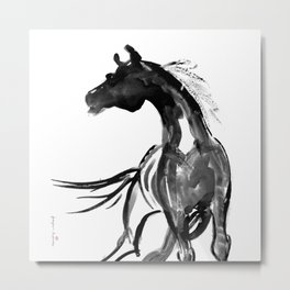 Horse (Ink sketch) Metal Print
